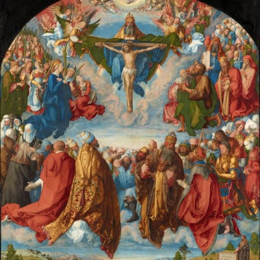 Albrecht Dürer Adoration Of The Trinity (landauer Altar) Google Art Project