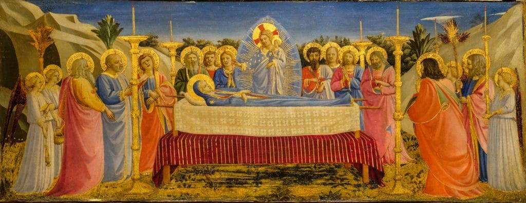 Fra Angelico, The Dormition Of The Virgin, 1431 35, Tempera And