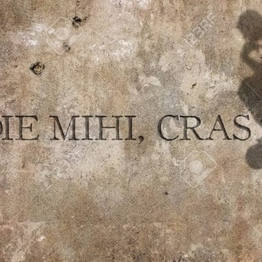 63100403 Hodie Mihi Cras Tibi Une Phrase Latine Cela Signifie Aujourd Hui Moi Demain Vous