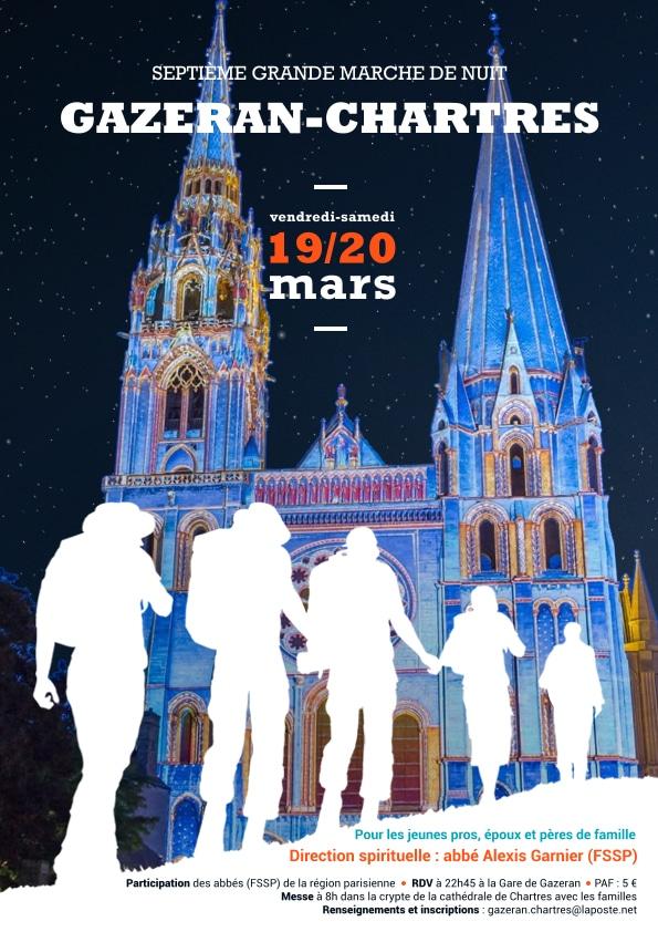 Affiche Marche Nuit Chartres 2021