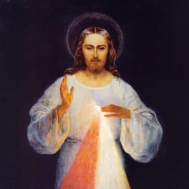vrai tableau original divine miséricorde jésus confiance sainte faustine peintre eugeniusz kazimirowski 1934