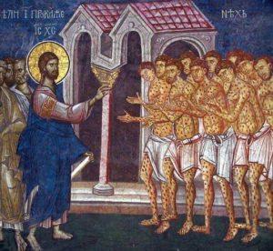 jesus christ guerit dix lepreux