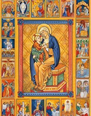 icone des 20 mysteres du rosaire